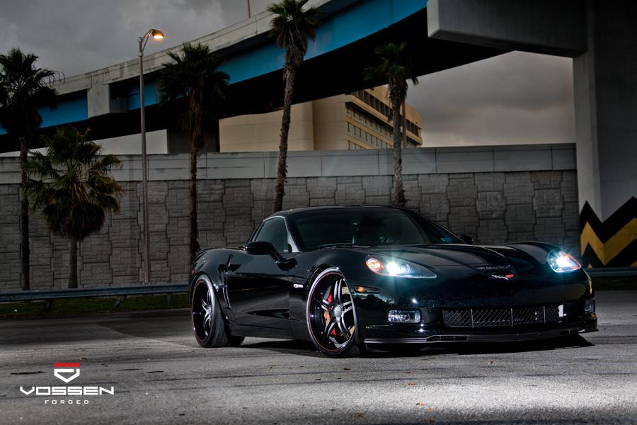 corvette  forged multi piece vossen wheels