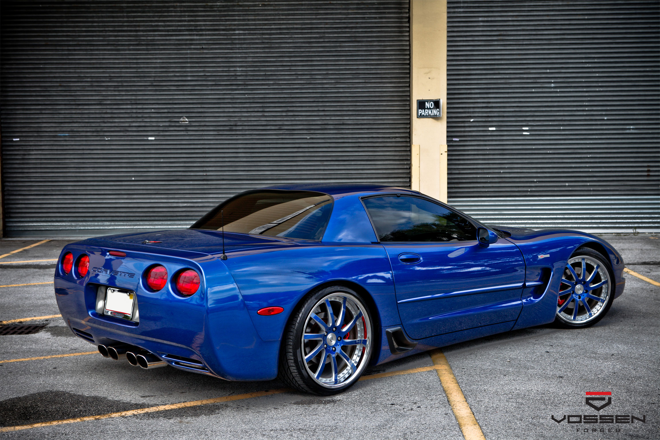 C5 Z06 Forged Vossen 3 Piece Wheels
